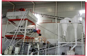 German Machinery producing White Quartz Grains and Powder in India